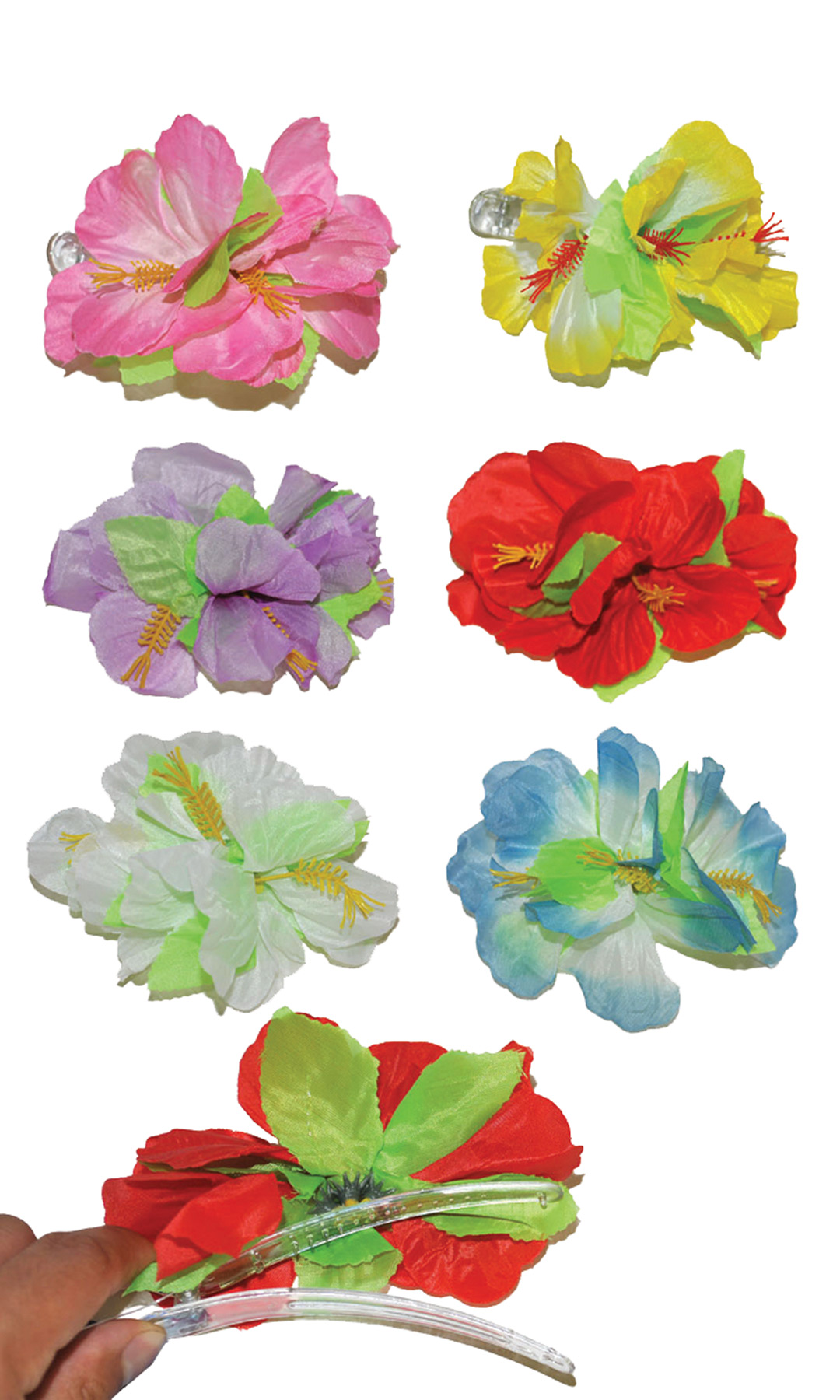 Featured Image for Hibiscus Lg Hairclip Asst Colo